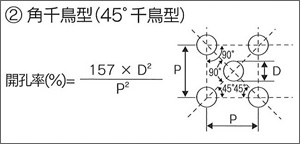 ②角千鳥型(45°千鳥型)
